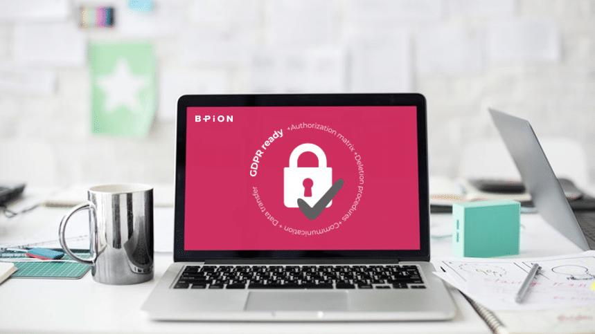 GDPR prrof communication on laptop