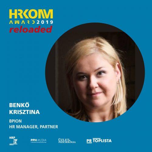HRKOMM AWARD zsűri - Benkő Krisztina, BPION